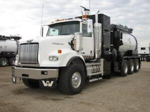 NEW Western Star Hydrovac and Straightvac units
