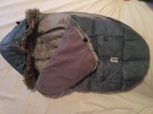7 A.M. Blue Sleep Sac Igloo for stroller - Large 3T