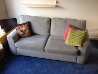 Light grey double sofabed