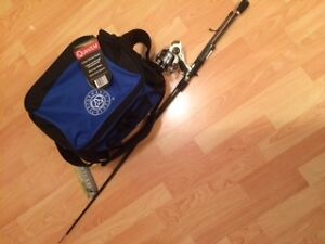 NEW - Rod, reel and tackle box