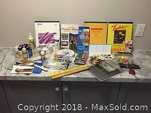 Extra Large Lot Of art Supplies New And Used