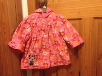 Disney Minnie Mouse Rain Coat Age 9-12 Months, very good condition