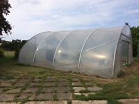 Clovis Lande commercial grade poly-tunnel polytunnel for swimming pool green house or workshop