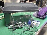 Aquarium 2ft x 1ft x 1ft (60cm x 30cm x 30cm) Plus Heater, Pump, Books, Gravel and pH Test Kit