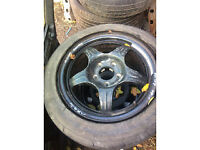 mercedes c class emergency space saver wheel for sale with tyres call thanks