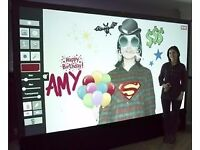 Interactive Air Graffiti Spray Paint Wall / Photo Booth Business for Sale, Cost £8500, accept £5000