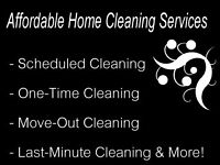 A QUALITY AND AFFORDABLE HOME CLEANING!