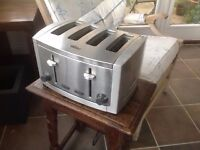 Breville Cafe Series Four-Slice Brushed Metal toaster Little Used so Excellent Condition