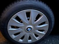 BMW 1 SERIES 4 STEEL WHEELS, BMW WHEEL TRIMS & GOODYEAR WINTER TYRES