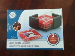 GLASS PHOTO COASTER (4) SET $ 5 new! Gatineau Ottawa / Gatineau Area image 1