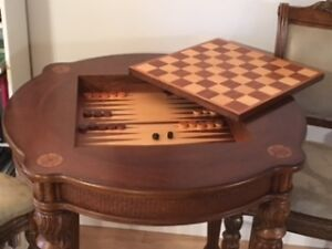 Jeu de backgammon et dames