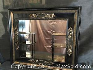 Vintage Shadow Box Mirrored Shelf Display