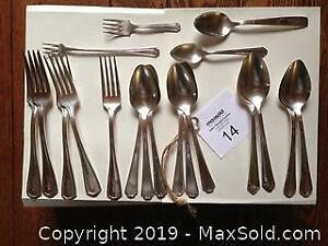 Vintage forks and spoons. B