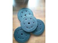 Brand new Pair of Dumbbell weights (40kg tot. - 10kg per unit)