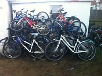 A SELECTION OF SECOND HAND BIKES INCLUDING AVAILABLE AS A JOB LOT OR AS SINGLES