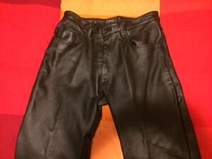 Leather pants, unisex, Canadian-made