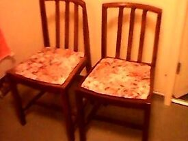 2 vintage dining chairs - ideal to renovate