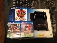 Great condition Boxed 500Gb PS4 Boxed 1 pad and 3 games £165