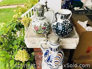 Antique European Pitchers and Jugs
