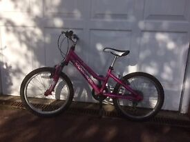 20 inch wheels; Ridgeback Bicycle - Pink: Excellent Condition
