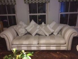 Cream and Beige 4 seat sofa and single armchair for Quick sale