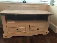 For sale Grey TV cabinet with pine top - £40.00 ono