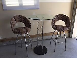 Cocktail Table & Bar Stools