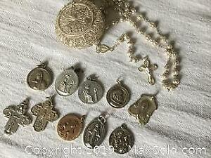 Religious Medals And rosary