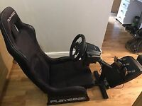 Logitech G29 Stering Wheek and Playseat for Xbox One. Great condition!