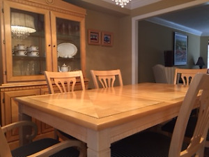 Dinning Room Set with China Cabinet and 6 Chairs