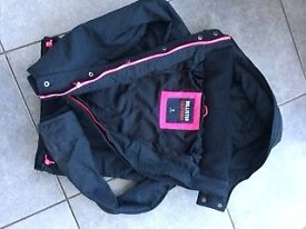 Ladies navy blue Hollister quilted jacket. Size Small.