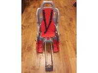 OKBABY Ergon Bike Rear Frame Fitting Child Baby Seat Silver/Red Max 22kgs