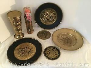Embossed Brass Lot