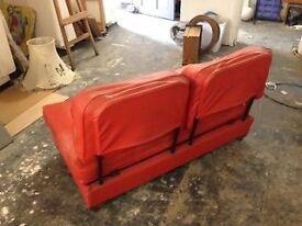 Genuine 1960's leatherette sofa bed.