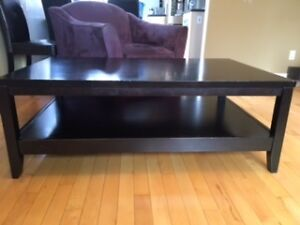 Large Parsons style coffee table