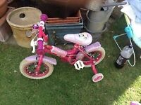 Girls bicycle/ tricycle disney