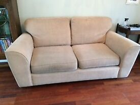 LOVELY BEIGE 'NEXT' 'LAWSON' 3 SEATER SETTEE/SOFA AND 2 MATCHING ARMCHAIRS IN VERY GOOD CONDITION