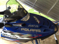 Polaris Snowmobile in Excellent Condition including Trailer
