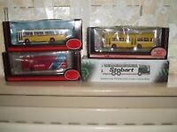 3 ASSORTED E F E COACHES AND EDDIE STOBART COACH ALL MINT IN BOXES