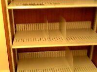 Heavy Duty 3 Tier Metal Shelving Storage/Bookcase on Wheels