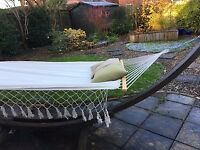 4m long hardwood hammock with 2-person hammock bed