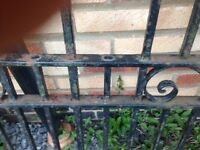 Wrought iron gates - pair of heavy weight gates