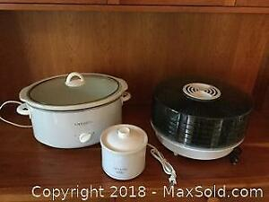 Two Crock Pots And Dehydrator