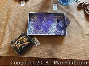 Tray With Glasses And Bar Accessories A