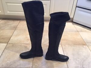 Marco Ferretti Knee High Leather Winter Boots size 6.5