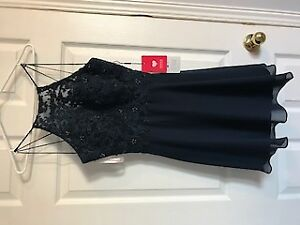 Navy Blue Junior Prom Dress