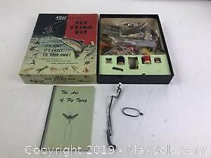 Vintage Noll Fly Fishing Fly Tying Kit