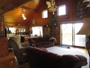 SOLD!  Lovely Log Home close to town! New Price!!!