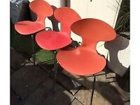 3 X dining kitchen chair BREE COMTA red