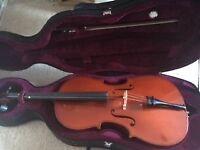 Cello. 1/2 size student cello for sale